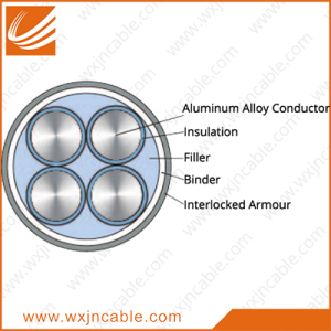 Aluminum Alloy Conductor(AAAC) XLPE Insulated Interlocked Armoured Power Cable 0.6/1kv
