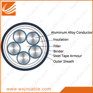 Aluminum Alloy Conductor(AAAC) XLPE Insulated PVC Sheathed Steel Tape Armoured Power Cable 0.6/1kv