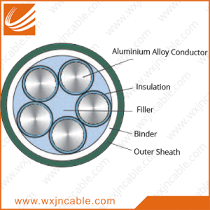 Aluminum Alloy Conductor(AAAC) XLPE Insulated PVC Sheathed Power Cable 0.6/1kv