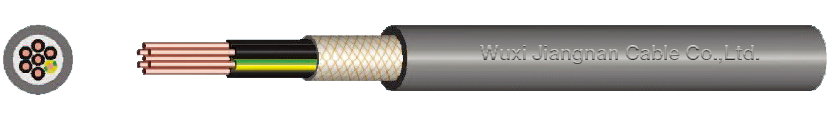 450-750V XLPE Insulated Braid Screened PVC Sheathed Control Cable Drawing