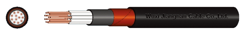 450-750V XLPE Insulated Steel Tape Armoured PE Sheathed Multi-Core Control Cable Sectional Drawing