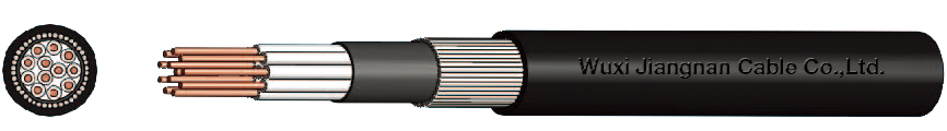 450-750V XLPE Insulated Steel Wire Armoured PE Sheathed Multi-Core Control Cable
