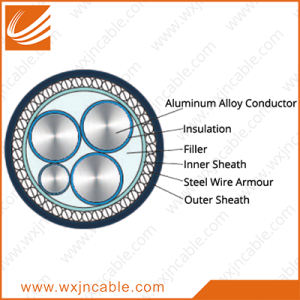 Aluminum Alloy Conductor(AAAC) XLPE Insulated Steel Wire Armoured PVC Sheathed Power Cable 0.6/1kv