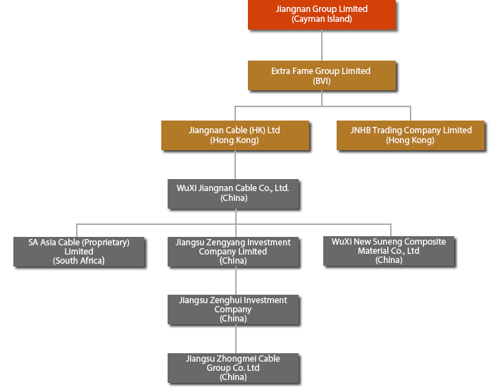 Jiangnan cable Corporate Structure