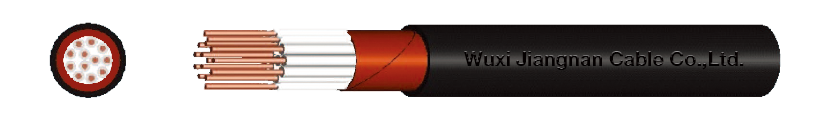 450-750V PVC Insulated Copper Tape Armoured PVC Sheathed Multi-Core Control Cable Sectional Drawing