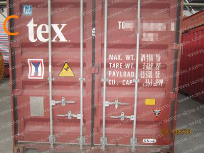 closed the container door container information
