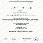 ISO 18001 Of IQNet
